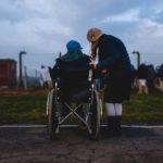 Инвалид, семья, девушка